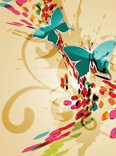 ART PRINT PAINTING DRAWING ABSTRACT BUTTERFLY COLOUR DOT GRAPHIC LFMP0882