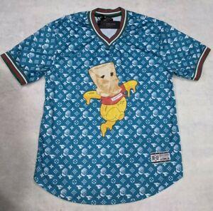 NEW Men's Aqua w/ Design XL M. Society Mad City Supreme V Neck Shirt w/ Tag NWT