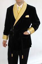 Men Quilted Black Velvet New Smoking Blazer Evening Host Wear Dinner Jacket Coat