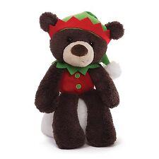 Gund 4042760 Fuzzy Elf Dark Brown Christmas