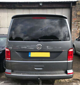 VW T6 Transporter Tailgate Recess Decal Sticker Textured Black Vinyl