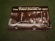 1977 GENERAL MOTORS CHEVROLET CADILLAC PONTIAC OLDSMOBILE BUIK Corvette BROCHURE