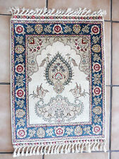 FINE ORIENTAL CARPET __ Silk on Silk türkmen__Signed__ Silk Carpet