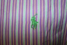 Ralph Lauren Purple/Green/Yellow L/S Shirt L Custom Fit Excellent Casual Top
