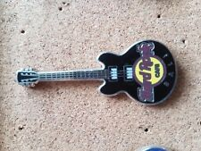 Hard Rock Cafe Pin BALI Core Guitar Black 3 String