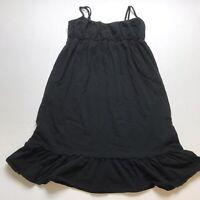 LOFT Sz XSP Basic Solid Black Sleeveless Dress A851