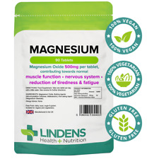 Magnesium Tablets 500mg Contributes normal muscle, nervous reduction of tirednes