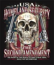 2ND AMENDMENT GUN CONTOL RIGHTS XXLG TEE SHIRT TS302 gun homeland  security NEW