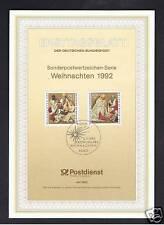 GERMANIA FOGLIO PRIMO GIORNO NATALE 1992