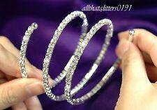 Preciosa Cristal/Diamante Envoltura Alrededor De La Pulsera/Brazalete Expansible