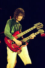"""12""""*8"""" concert photo of Jimmy Page playing at Knebworth 1979"""