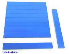 LEGO®  blaue 1x8 Basic Fliesen / Kacheln / Platten / 10 Stück
