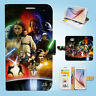 Samsung Galaxy S3 4 5 6 7 8 Edge Plus Note Flip Wallet Case Cover Star Wars W047