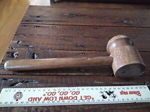 Cairns Vintage wood wooden gavel judge court police courtroom uniform tool