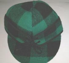 Railroad Cap, Green & Black Plaid, NEW, Langenberg Hat Company, USA Made