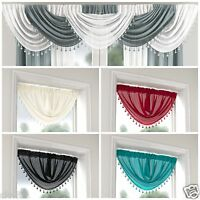 Top Quality Designer Swag/Valance/Drapes/Round Curtain For Window/Door Millie