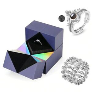 Creative Ring, Bracelet Puzzle Jewelry Box Valentine's Day Gift Cube Jewelry Box