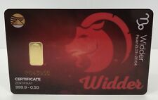 Geschenkkarte - Sternzeichen Widder - Goldbarren 999.9 LBMA zertifiziert 0,5g