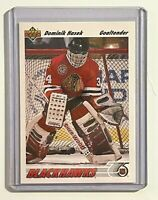 1991 1992 UPPER DECK UD #335 DOMINIK HASEK ROOKIE CARD CHICAGO BLACKHAWKS