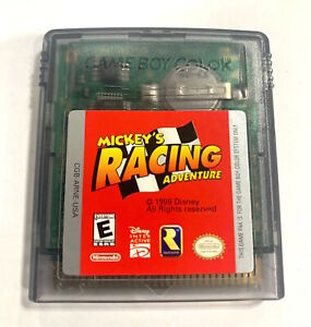 Mickey's Racing Adventure Nintendo Game Boy Color Game Tested + Working