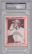 """James """"Cool Papa"""" Bell Psa/Dna Signed 1976 Douglas & Bell Card Autographed."""