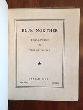 RARE 1925 Blue Norther, TEXAS Poems, Therese Lindsey, Vinal, 1st edition Poetry