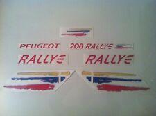 KIT COMPLET, Stickers autocollants  Peugeot 208 RALLYE