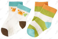 Gymboree NWT 2 pairs Island Green Stripe CUDDLY CRAB DRESS SOCKS SET 0 3 6 Month