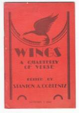 WINGS A QUARTERLY OF VERSE Autumn 1942 - poem by Clark Ashton Smith.