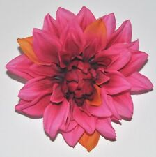"5"" Autumn Bright Pink Dahlia Silk Flower Hair Clip Wedding Prom Homecoming"