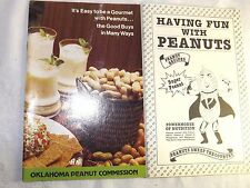 Peanut Recipes Booklets Having Fun w/ Peanuts & Its Easy To Be A Gourmet vintage