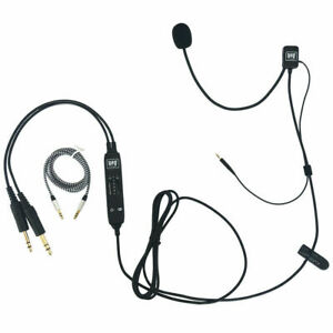UFQ AV Mike-2 aviation headset microphone suit for Bose QC25,QC35 FAST USA SHIP