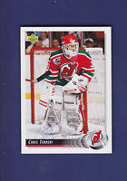 Chris Terreri *AUTOGRAPH* 1991-92 Upper Deck UD Hockey #43 New Jersey Devils
