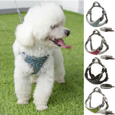 Dog Harness Leash Set Adjustable Puppy Reflective Mesh Vest Small Medium Large