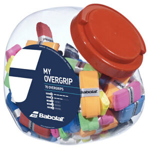 Babolat My Overgrip Tennis Grips Racquet Racket Overgrip Jar of 70 Pack