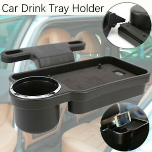 Car Rear Back Seat Table Drink Food Cup Tray Holder Table Desk Stand Mount