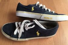 RALPH LAUREN MENS BLUE CANVAS PUMPS TRAINERS PLIMSOLLS UK 9 RRP £69