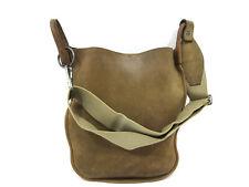Authentic Yves Saint Laurent Shoulder Bag Leather Brown 72945