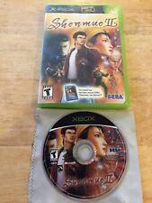 Shenmue II Original Microsoft Xbox System Game 2 & Box Only U.S. Version
