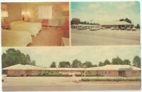 Malbis Hotel Courts Heat Air Pool Daphne Al Vintage Postcard Alabama Chrome