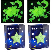 Ultra Glow in the Dark Stars; 400 Count w/ 2 Bonus Moon Ceiling Wall Stickers