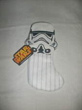 Disney Star Wars Storm Trooper Stocking with hanging loop - NEW WITH TAGS