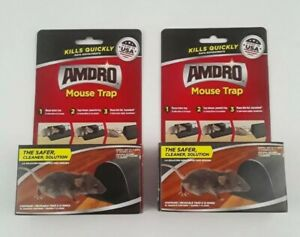 (2) AMDRO Mouse Trap, 24 Rings Kills Everytime Safer & Quick - Cleaner Solution