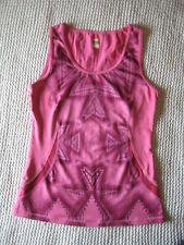 Lucy Tech Pink Sleeveless Tank Top Women Size Small Yoga Fitness Workout Running