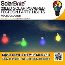 Solar Brite Deluxe 20 LED Multicoloured Solar Powered Festoon Party Lights