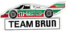 Team Brun Porsche 956 962 KH  Nr.17 TORNO Sticker Aufkleber
