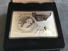 Silbermünze 999er 30g Silbe China Panda 2020 in einem 3 Unzen Barren im Etui OVP