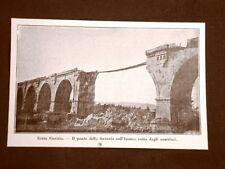 WW1 Prima guerra mondiale 1914-1918 Gorizia nel 1916 Ponte ferrovia sull'Isonzo