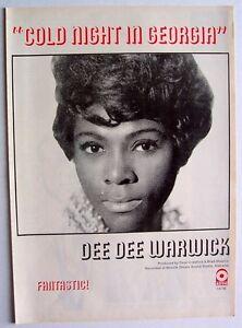 DEE DEE WARWICK 1971 Poster COLD NIGHT IN GEORGIA