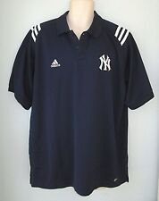 Adidas NY Yankees Navy Blue Embroidered Polo Shirt MLB Mens Large